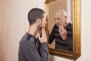 man-mirror-age