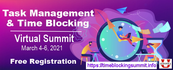 Task Management and Time Blocking Summit, Match 4-6